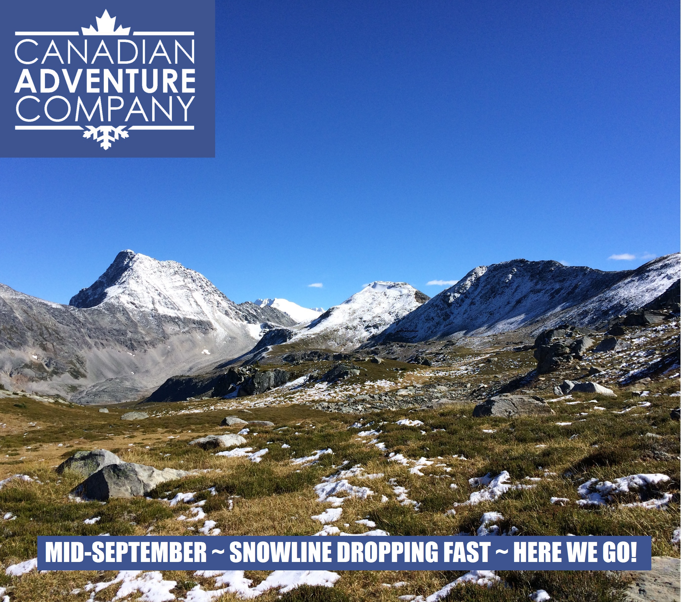Mallard Mountain Lodge Snowline dropping fast ~ here we go for another winter!